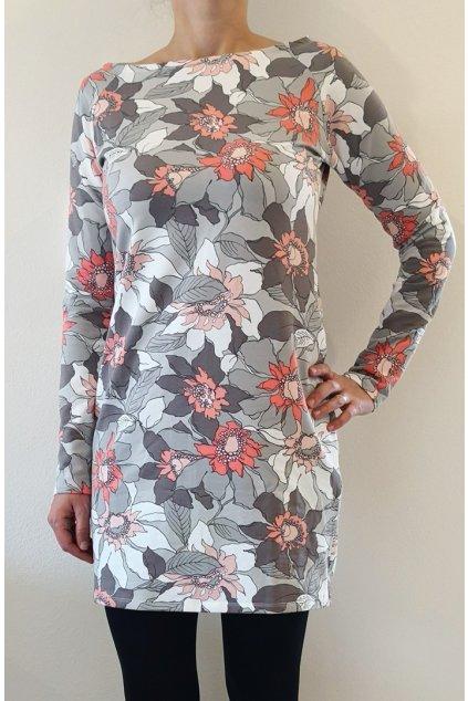 Šaty Květy | úplet