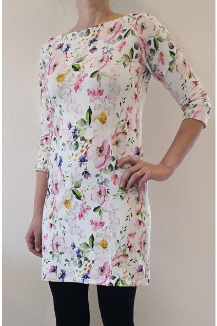 Šaty Jabloňové květy| úplet