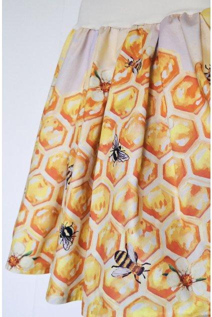 Skládaná sukně Medová | plátno