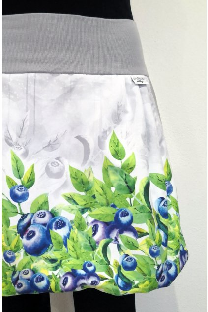 Balonová sukně Borůvky šedé | micropeach