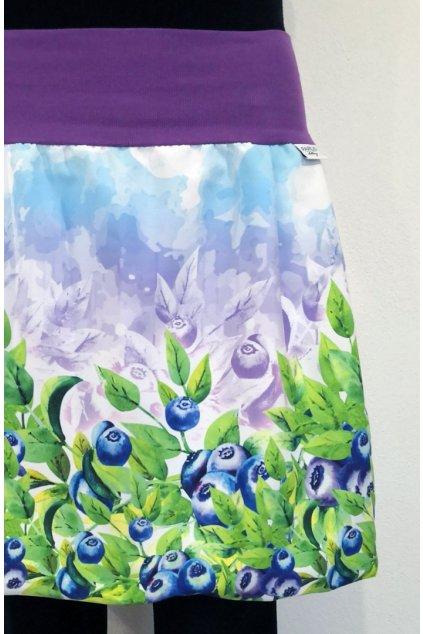 Balonová sukně Borůvky barevné | micropeach