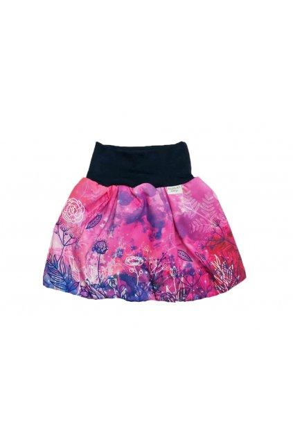 divci balonova sukne ruzove kvety papilio clothing