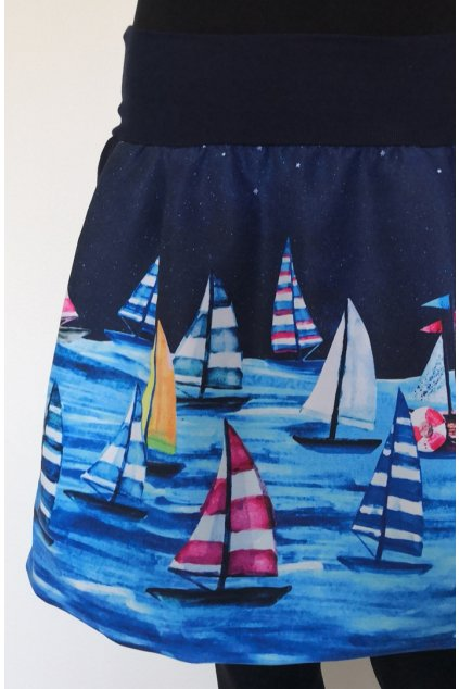 Balonová sukně Plachetnice II. | plátno