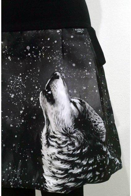 Balonová sukně Vlk samotář | softshell