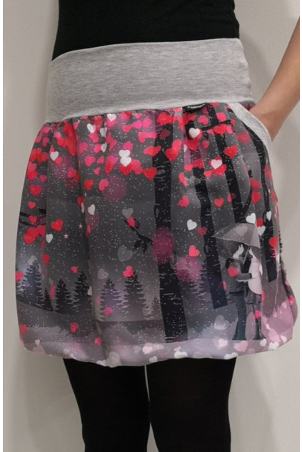 Balonová sukně Valentýnské setkání I. | plátno