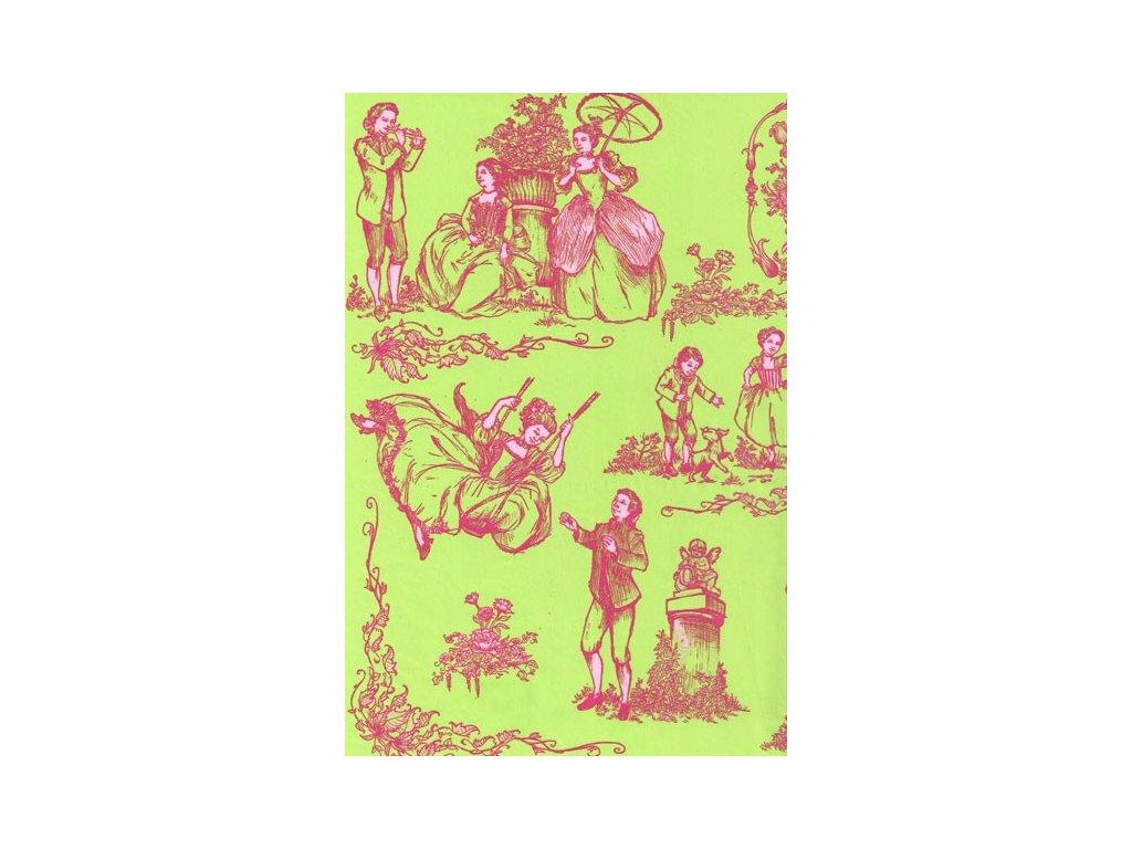 Papír na decoupage Zelený s princeznou