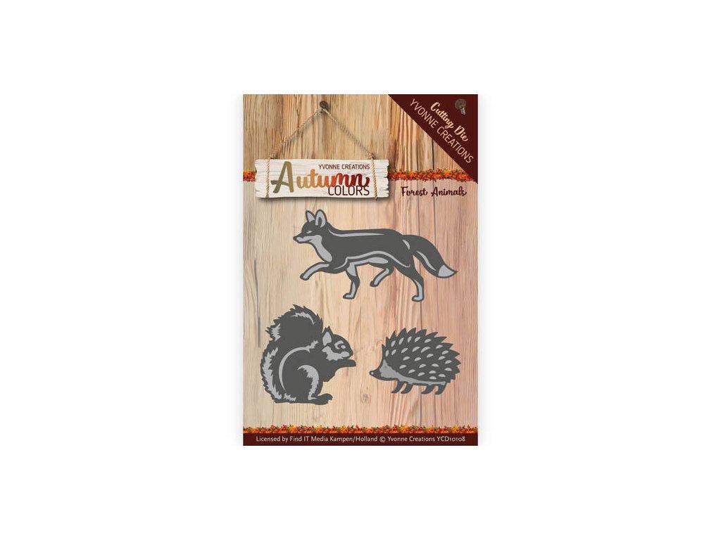 Šablona kovová vyřezávací Lesní zvířata