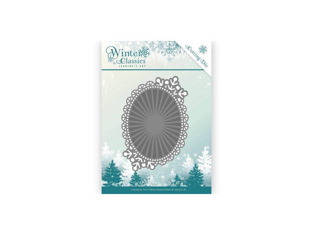 Šablona Winter Classics - oválné zrcadlo