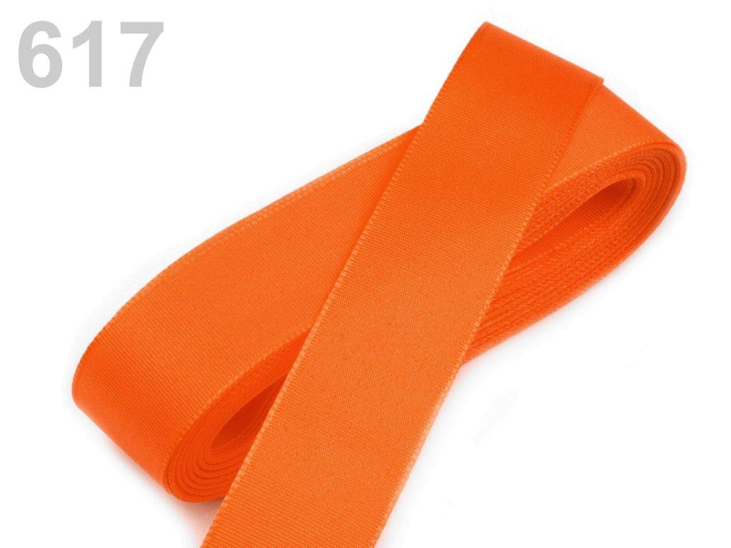 stuha taftová 25 mm oranžová