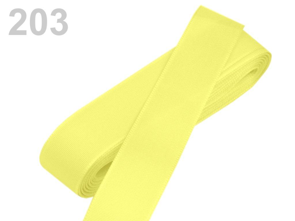stuha taftová 25 mm banánová