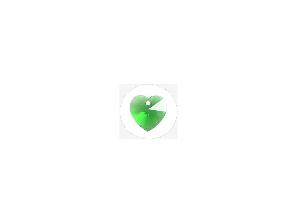 Srdce skleněné zelené