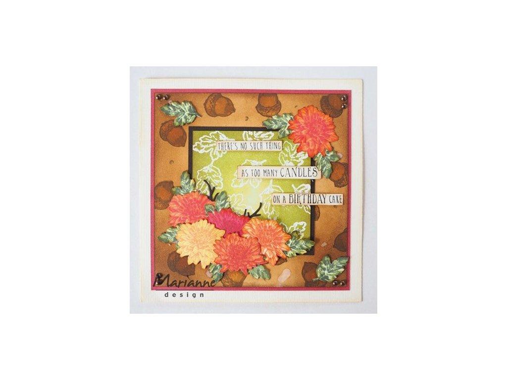 Razítko skládací Chrysantémy