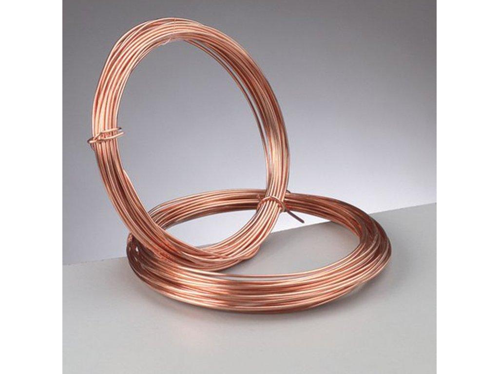 Měděný drátek kulatý 0,4mm
