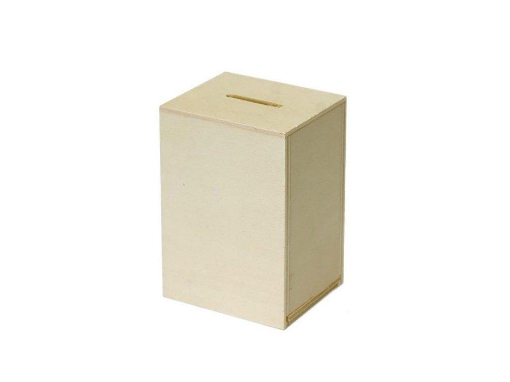 Dřevěná obdélníková kasička