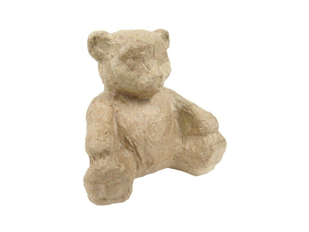 Kartonový předmět sedící medvěd