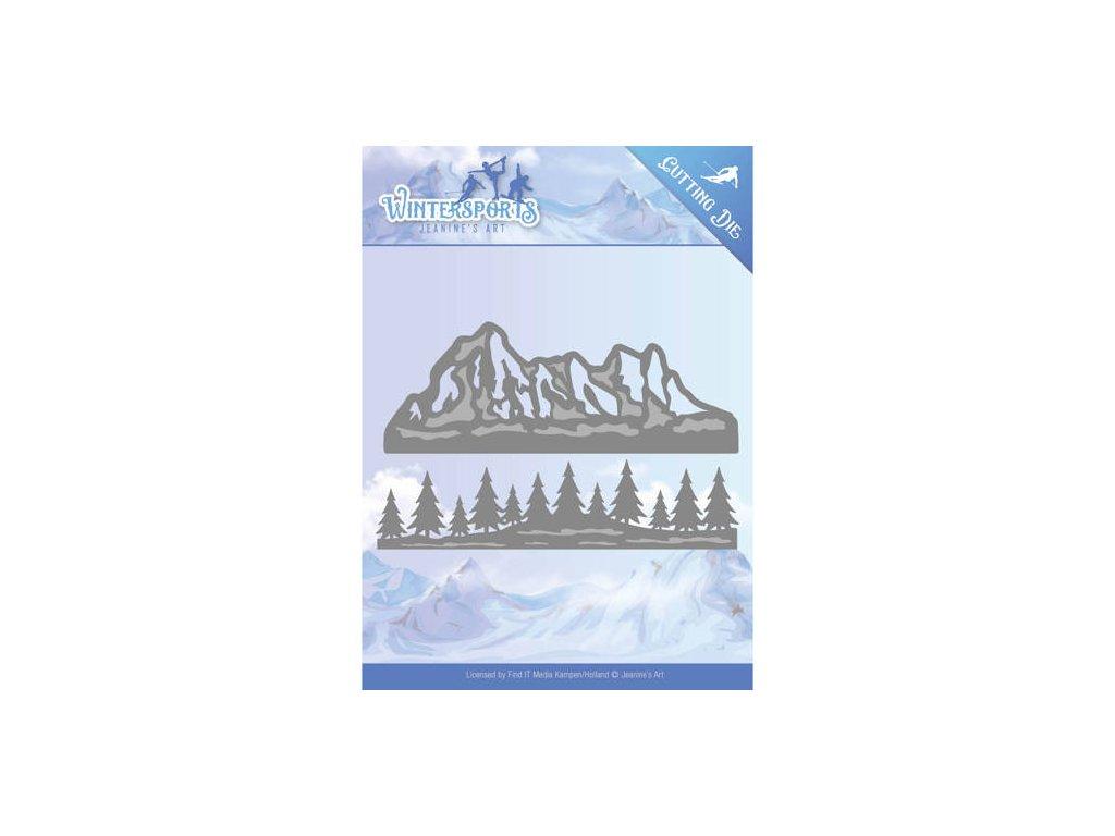 Šablona Winter Classics pohoří a les bordury