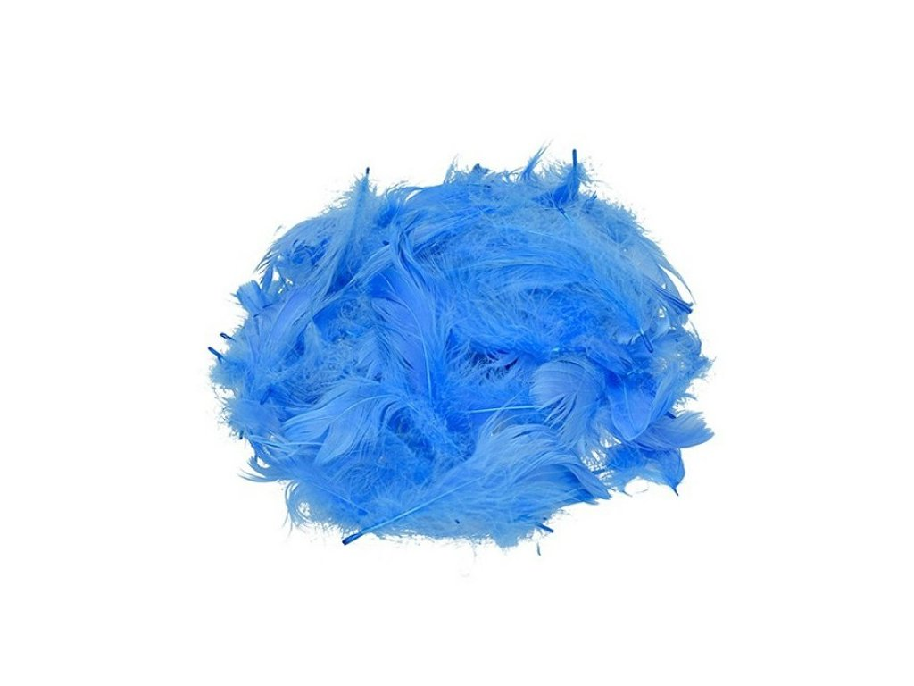 Peříčka modrá cca 110 ks