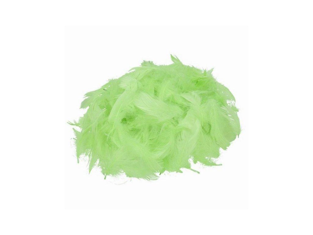 Peříčka světle zelená cca 110 ks
