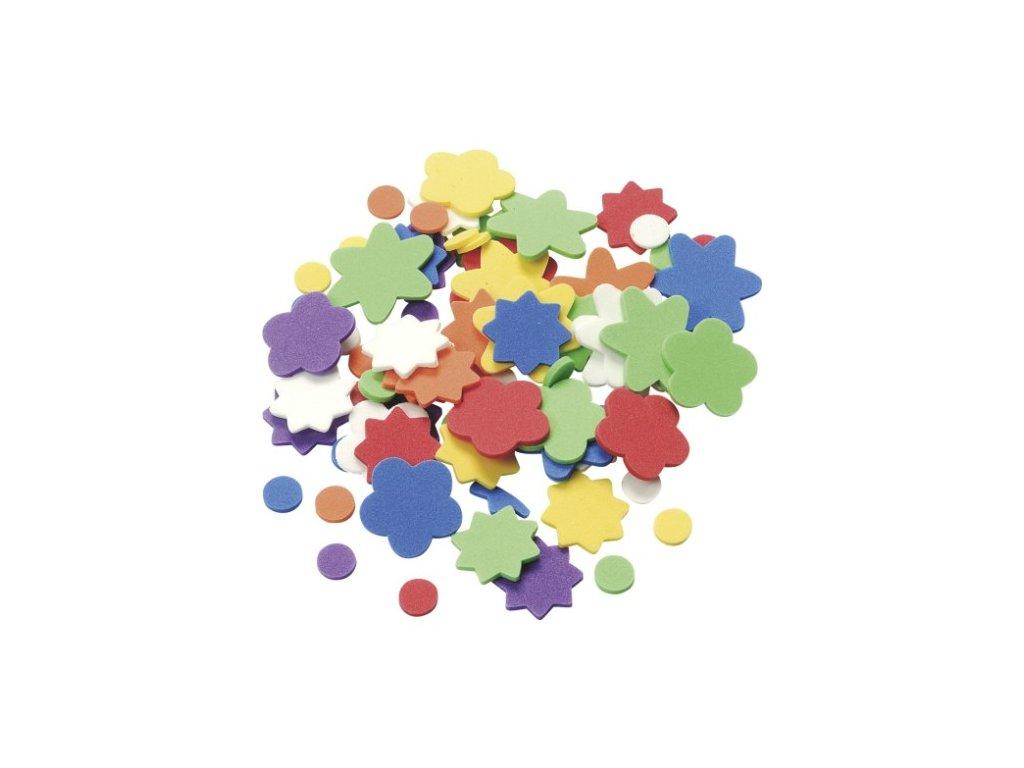 Výřezy z pěnovky Květiny a tečky