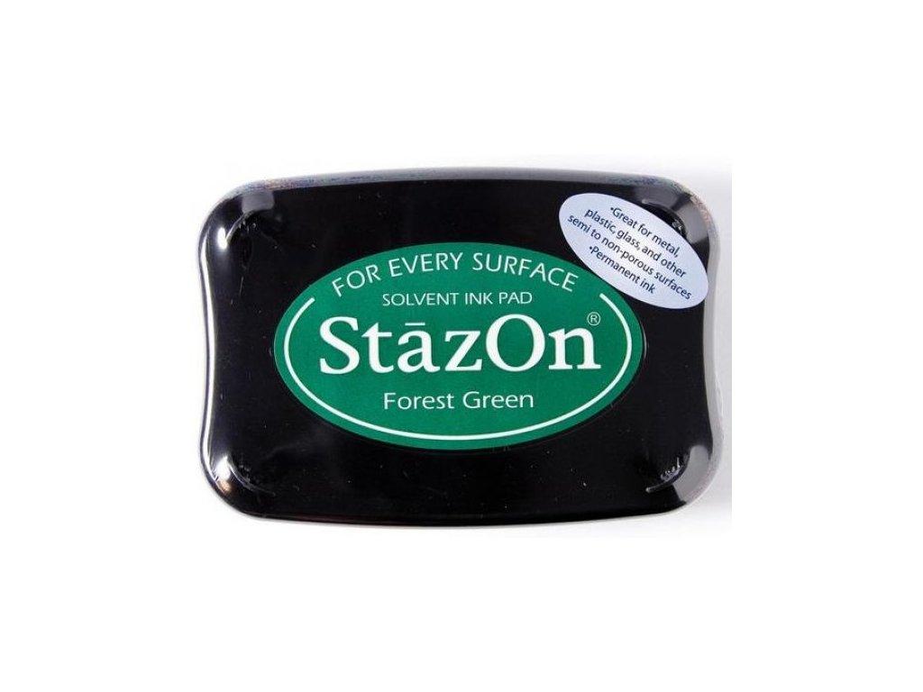 Razítkovací polštářek StazOn lesní zelený