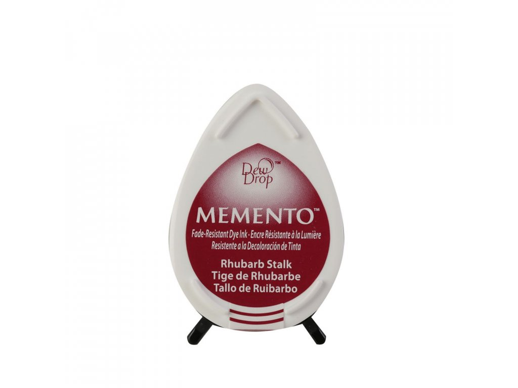 Razítkovací polštářek Memento rebarborově červený