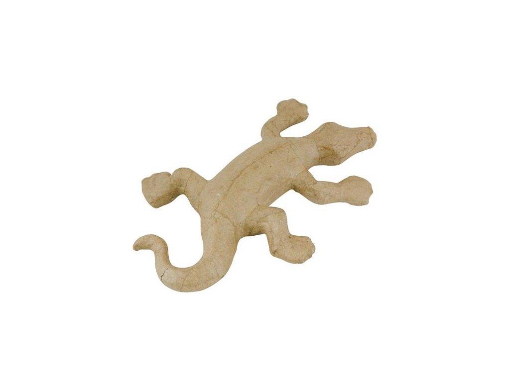 Kartonový předmět ještěrka