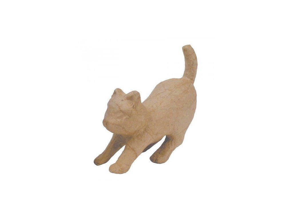 Kartonový předmět kočka před skokem