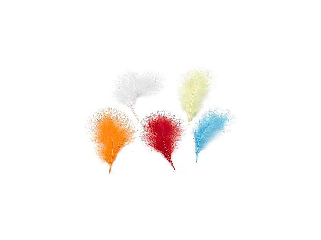 Peříčka marabu žlutá