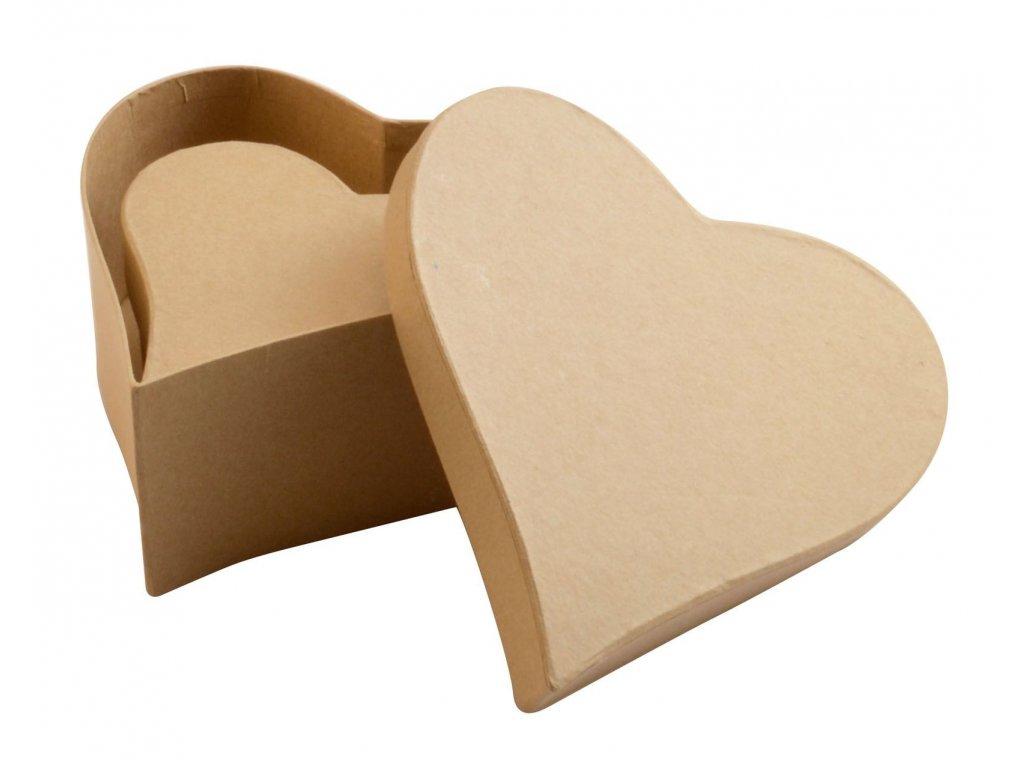 Krabičky z kartonu sada 2ks srdce