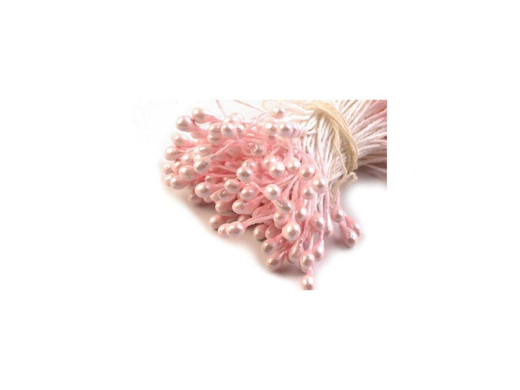 Pestíky do květin - perleťové růžové
