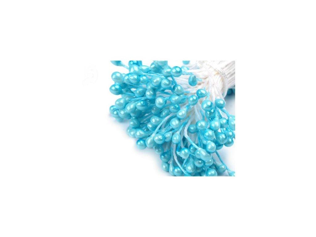 Pestíky do květin - perleťové modré