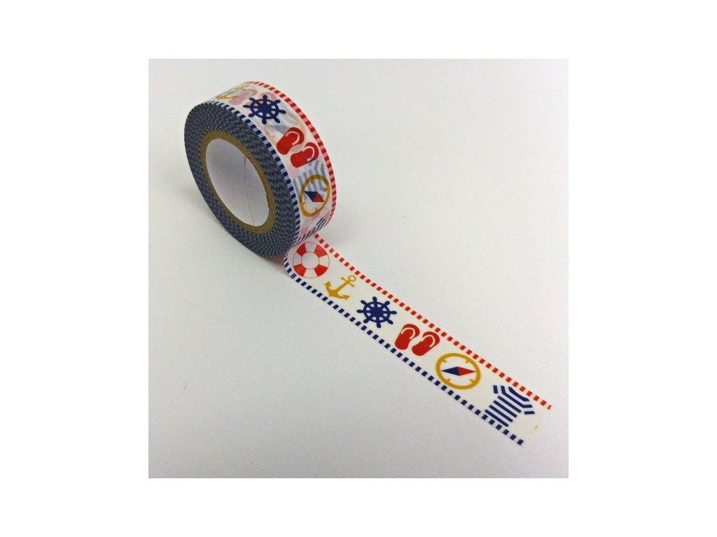 Samolepicí papírová páska dovolená u moře