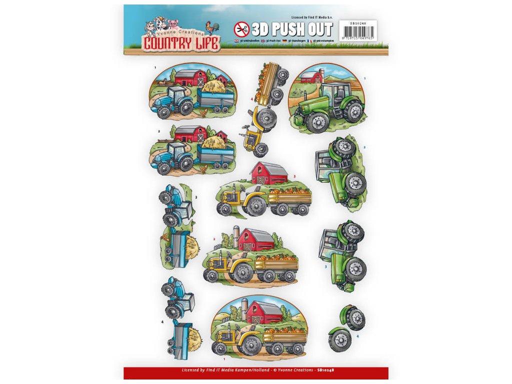 3D Výřezy Traktory