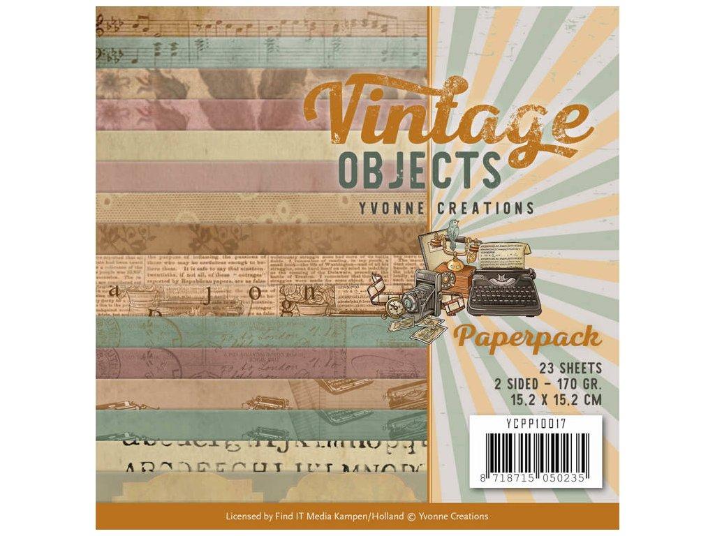Sada papírů Vintage Objects