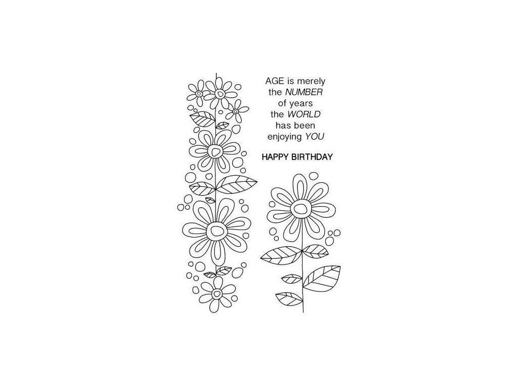 razítka gelová silikonová Květiny