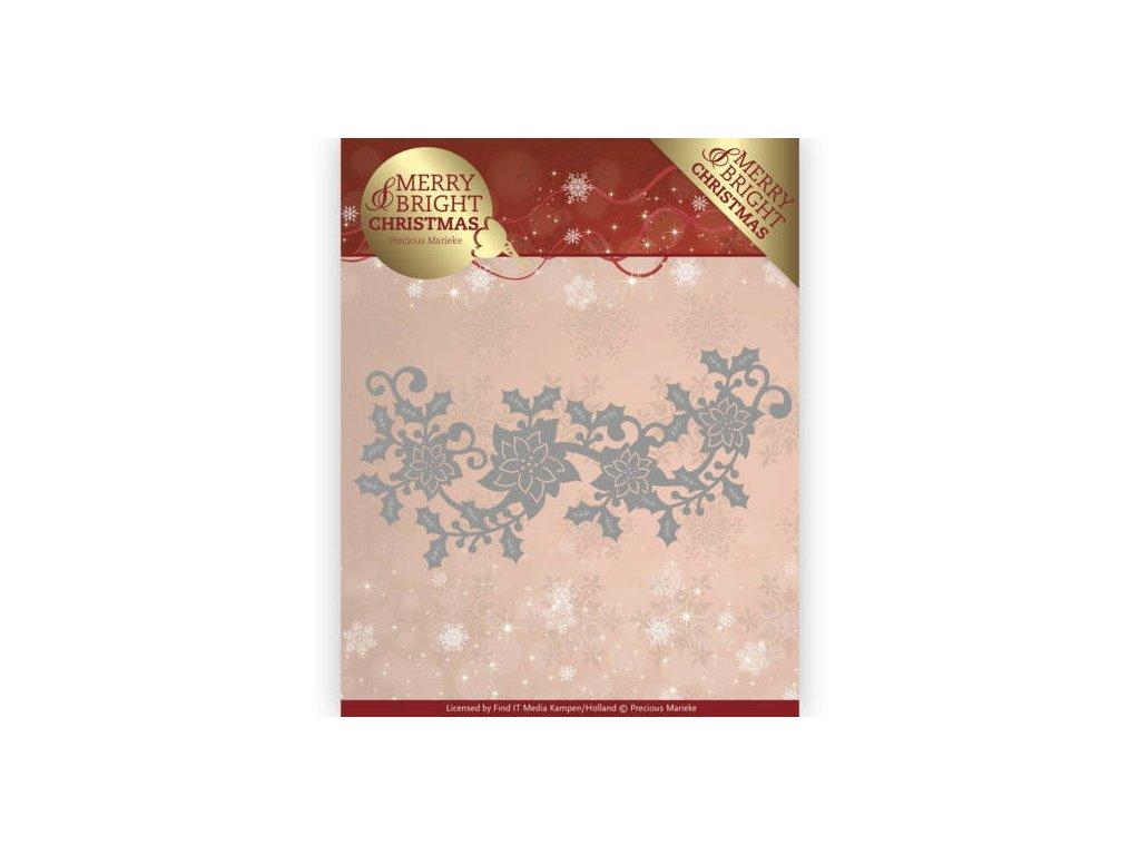Šablona Vánoční hvězda bordura