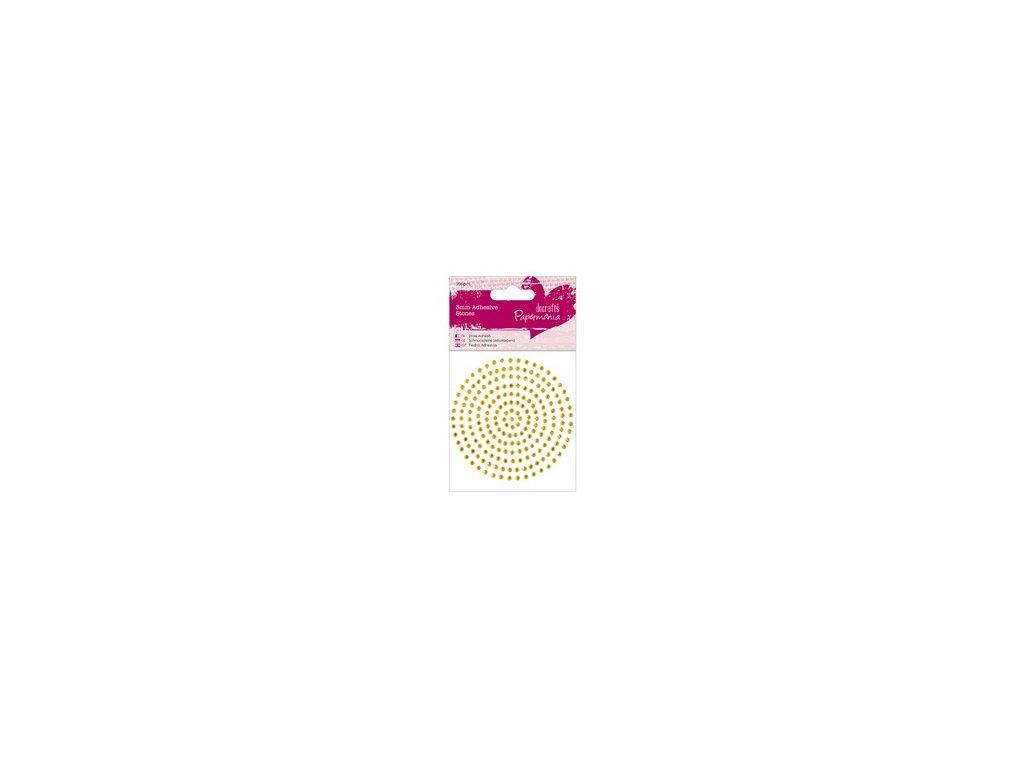 Samolepicí kamínky 206ks (3mm) - Zlaté