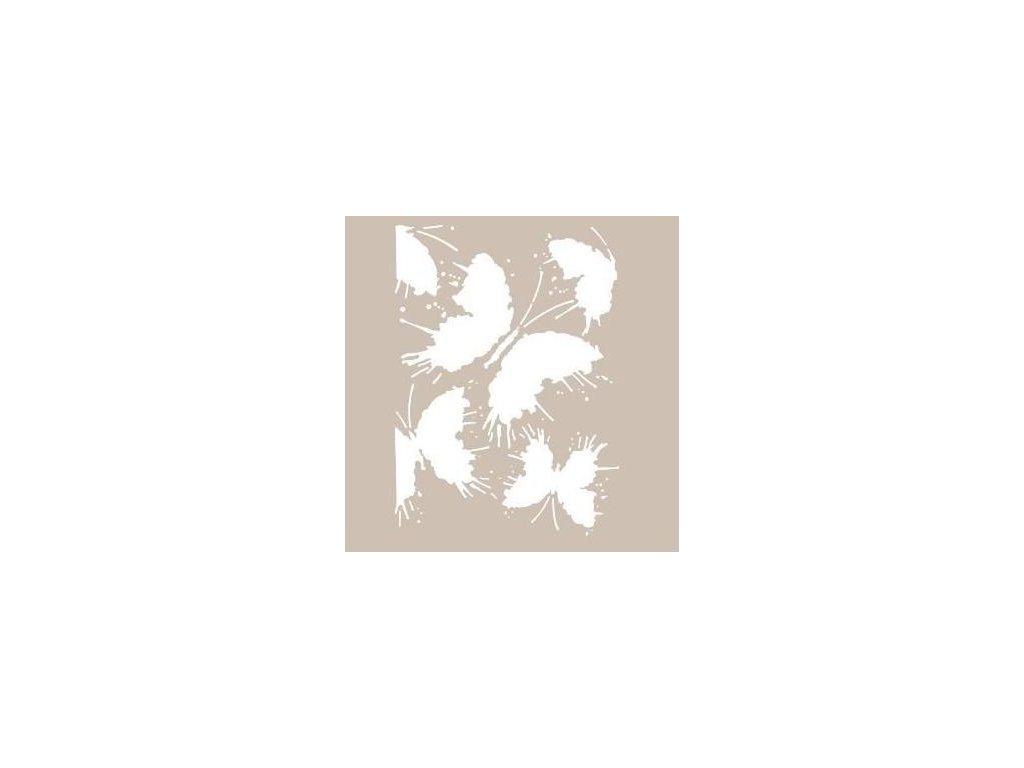 Šablona Motýlí cákance