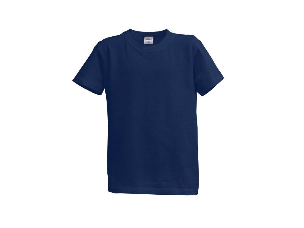 Dětské tričko krátký rukáv XL - modré (14-15 let, 164)