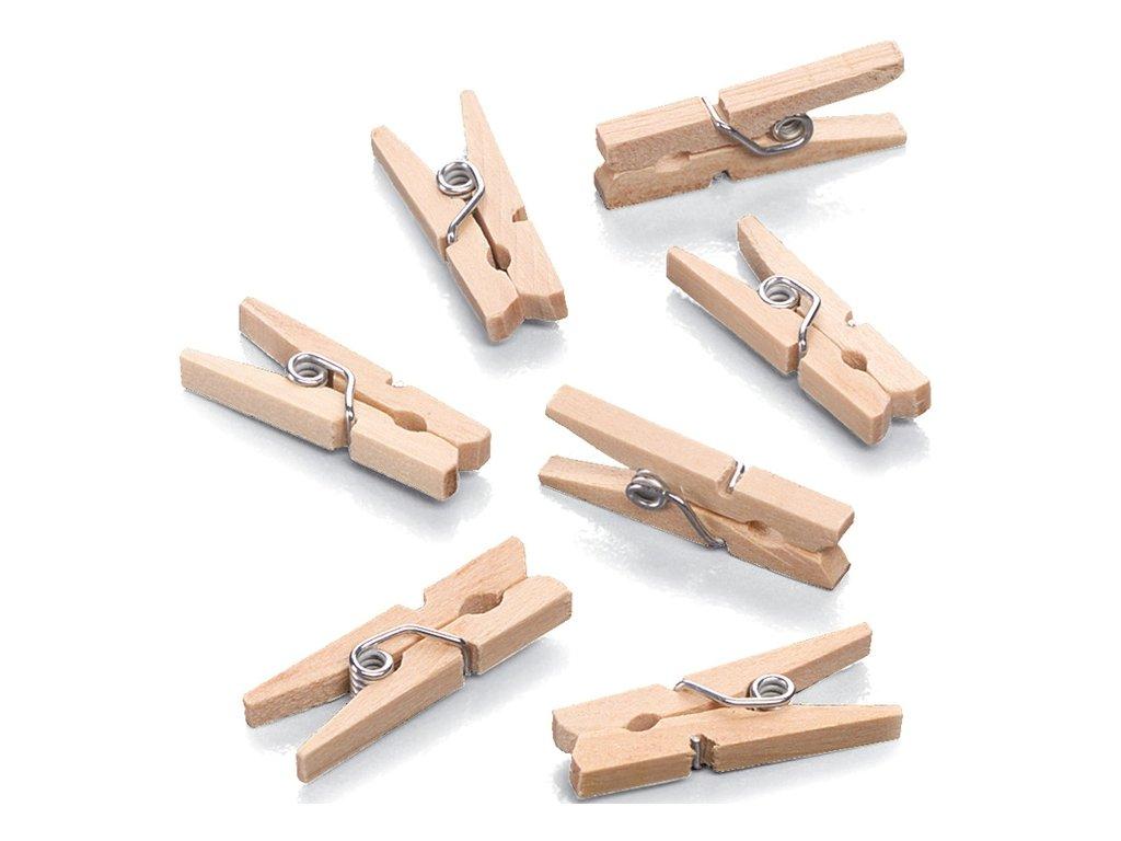 Mini dřevěné kolíčky 10 ks