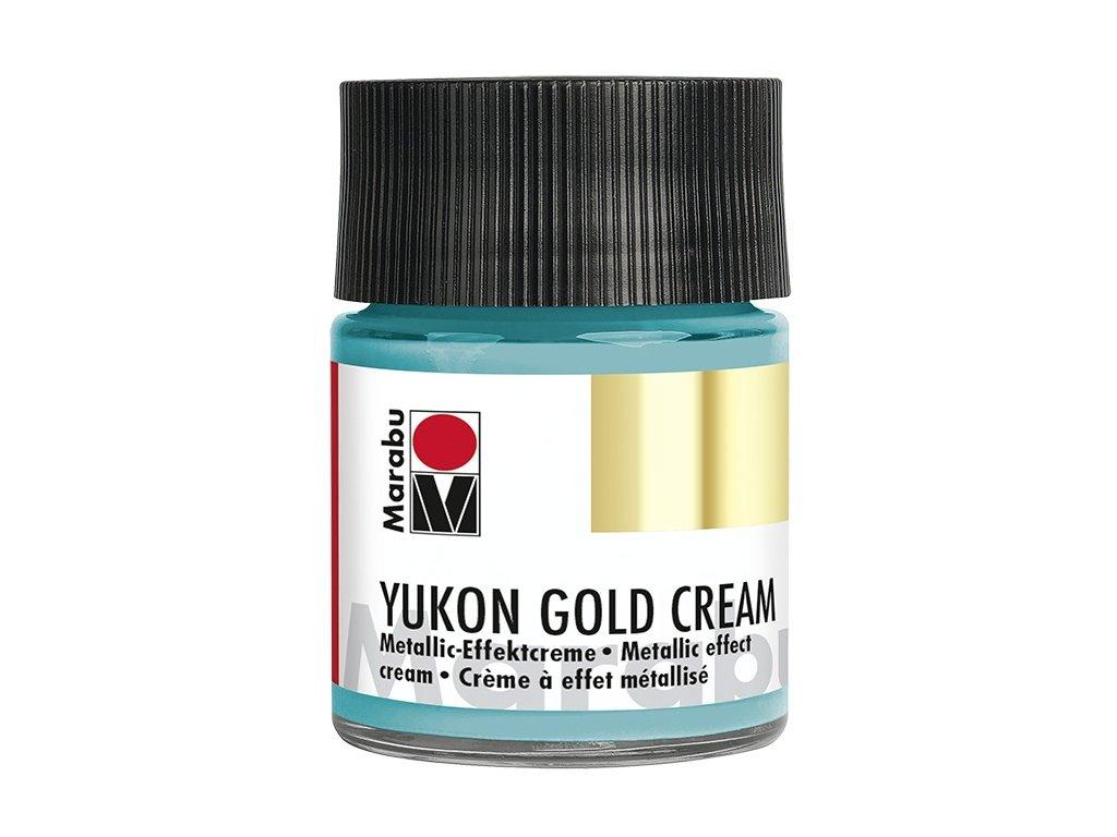 YUKON GOLD CREAM metalický tyrkysový