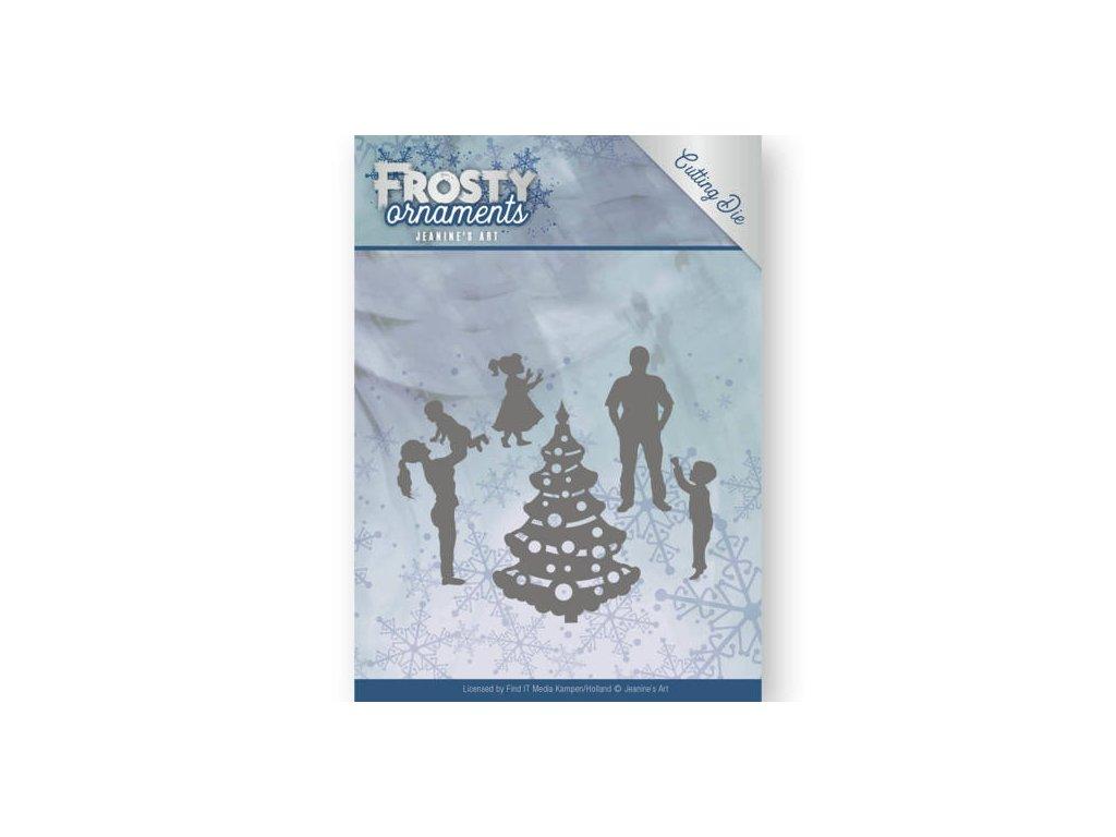 Šablona Frosty Ornament šťastná rodina