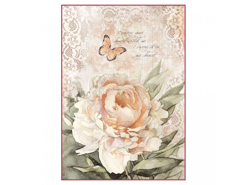 Rýžový papír Vintage růže