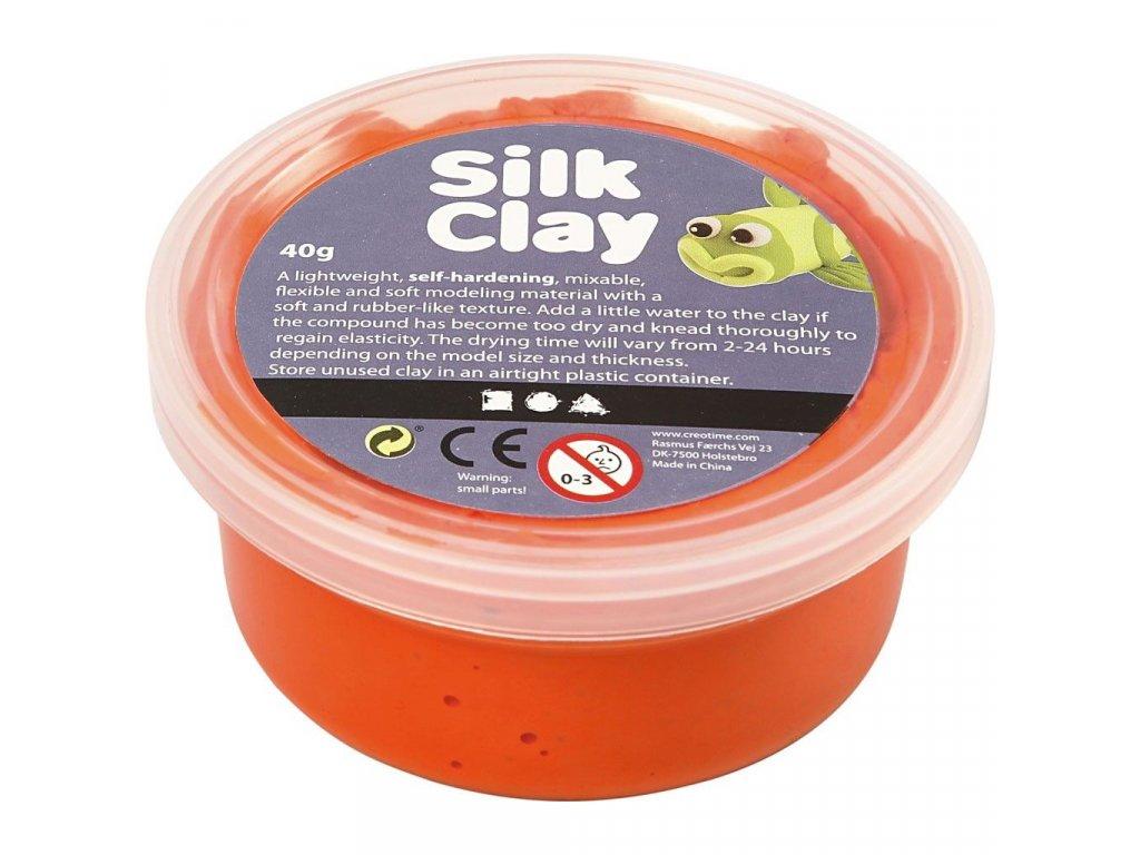 Silk Clay kreativní hmota oranžová