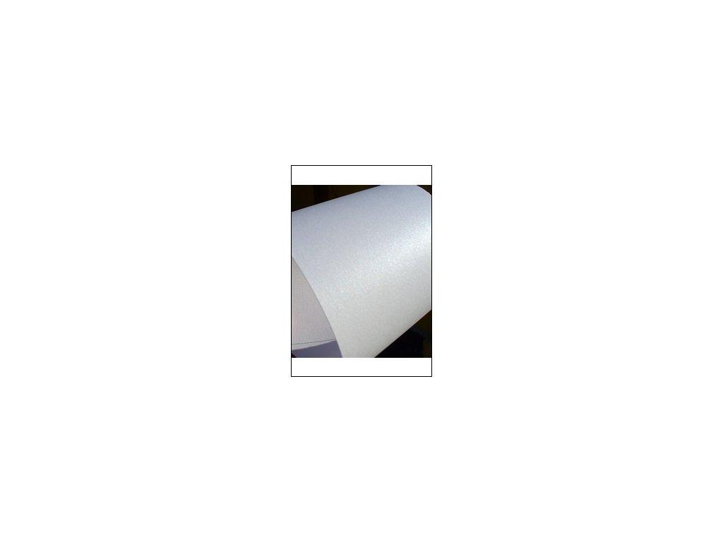 Metalický papír bílý A4