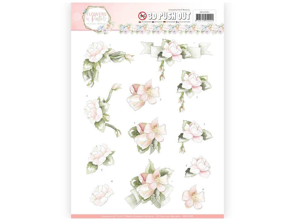 3D Výřezy Květy v růžovém