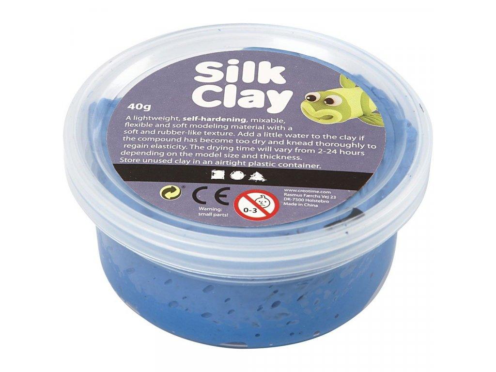 Silk Clay kreativní hmota modrá