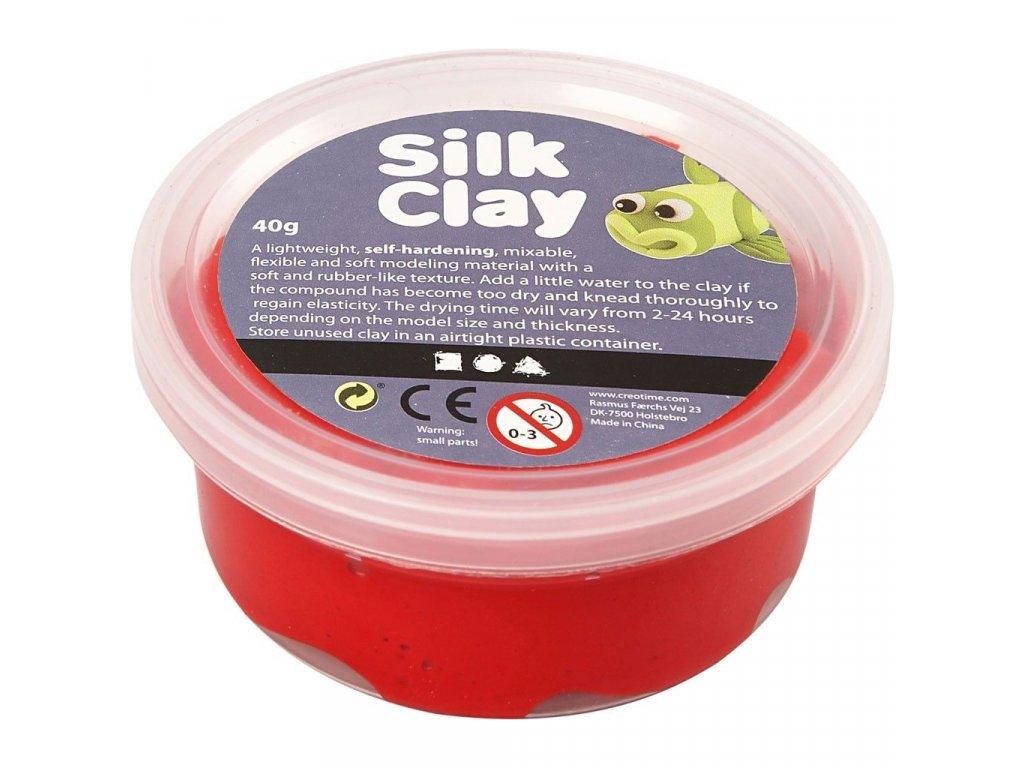 Silk Clay kreativní hmota červená