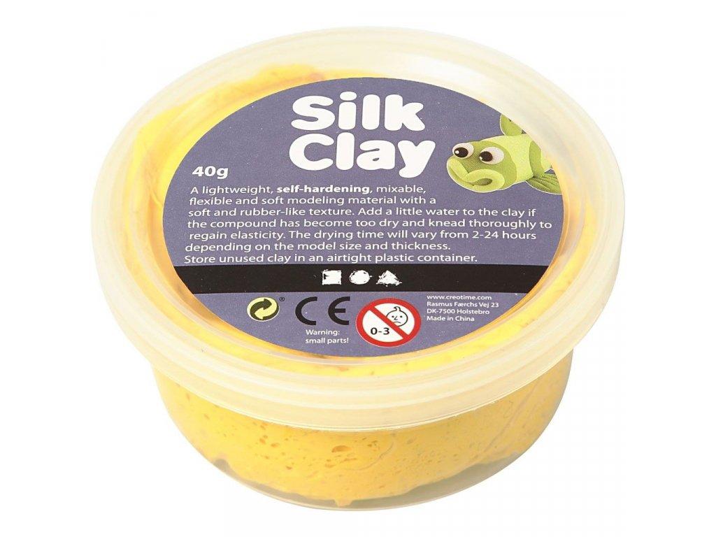 Silk Clay kreativní hmota žlutá