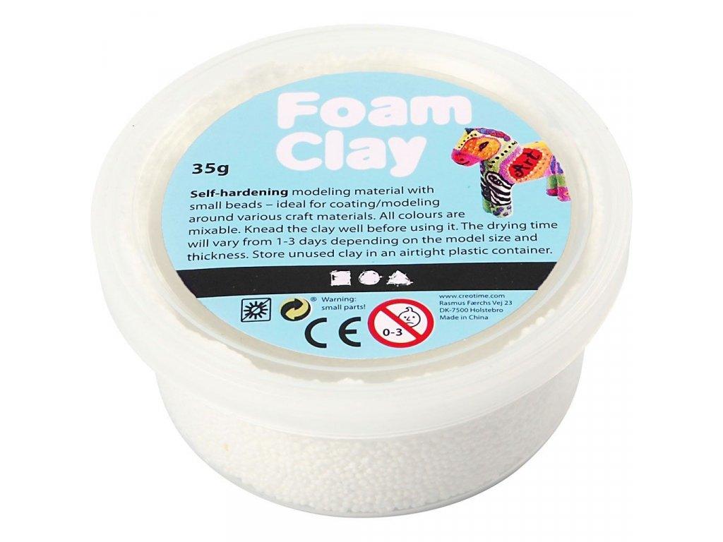 Foam Clay kreativní hmota bílá